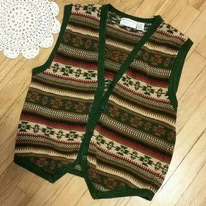 《VINTAGE》Maggie Lawrence Knit Sweater VEST
